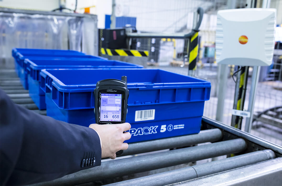 comepack Behältermanagement Software RFID Scanner